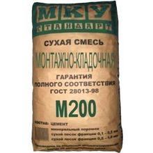 Кладочная смесь М200 монтажно-кладочная МКУ